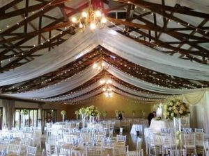 White Roof Draping with Fairylights[1] - Copy