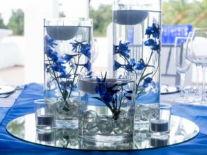 submerged delphiniums cylinders
