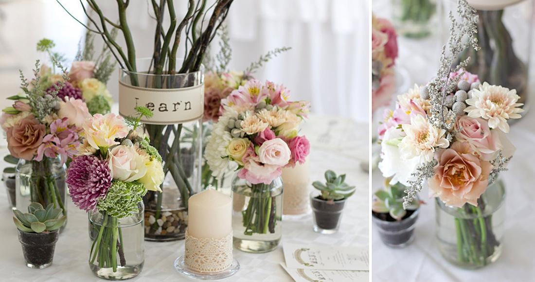 Party decor hire flower arrangements for Decor 4 hire